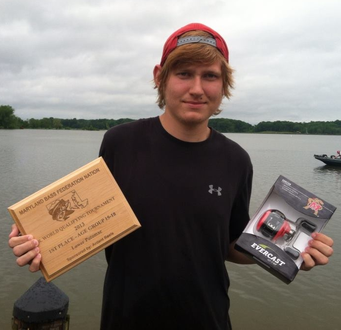 Justin with Plaque and MD Terripin Reel